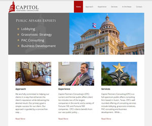 Capitol Partners Consulting website design