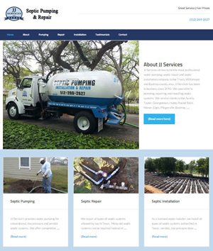 JJ Services website development
